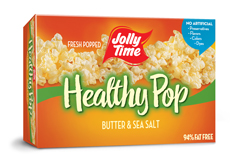 Image of a Healthy Pop JOLLY TIME popcorn box