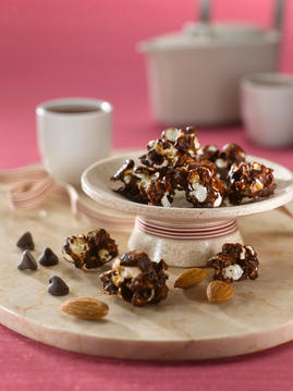 Nutty Chocolate Caramel Corn Clusters