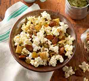 Basil & Garlic Popcorn Trail Mix