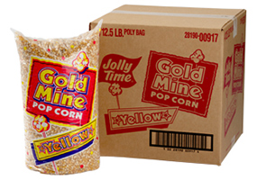 Jolly Time Bulk Popcorn Kernels. Wholesale unpopped popping corn. Choose from mushroom popcorn or butterfly kernels.