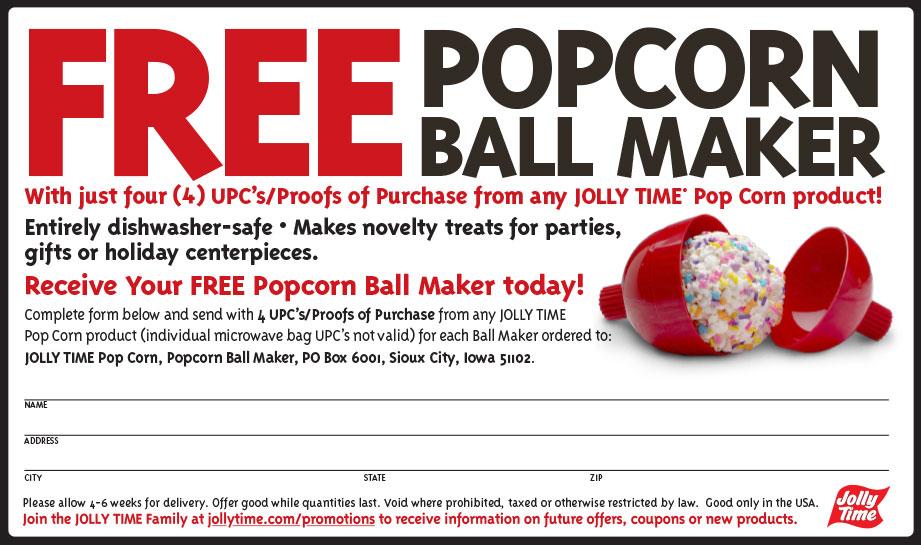 Jolly Popcorn Coupon