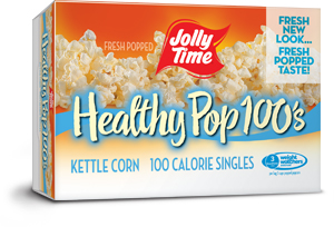 Jolly Time Healthy Pop Kettle Corn Microwave Popcorn Mini Bags. 94% fat free, 100 calorie popcorn endorsed by Weight Watchers thumbnail